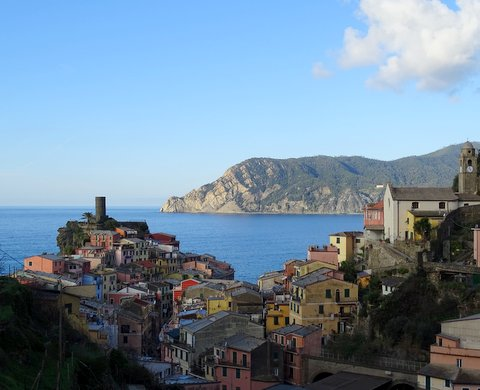 Vernazza and the Ligurian Sea